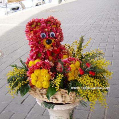 Мишка из хризантем Воронеж