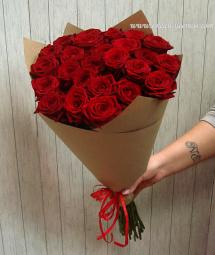 Букет красных роз 15 шт Воронеж