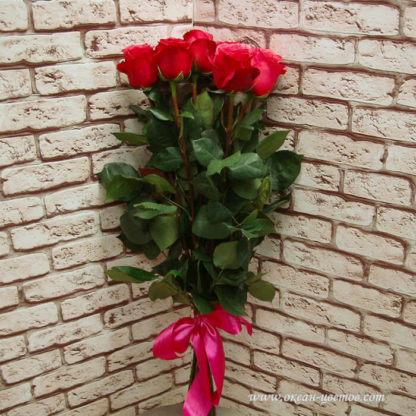 Букет розовых роз Черри 15 шт