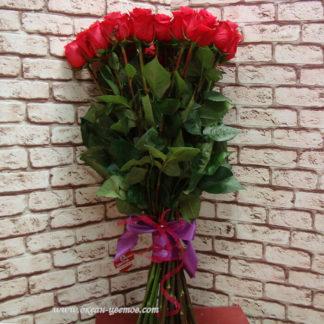 Букет розовых роз Черри 19 шт