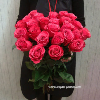 Букет розовых роз Черри 25 шт
