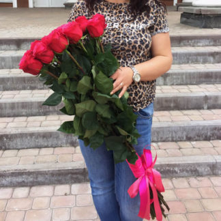 Букет розовых роз Черри 35 шт