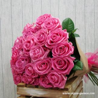 Букет розовых роз аква 25 шт Воронеж