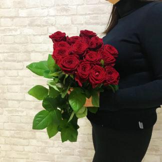Букет из красных роз Наоми 15 шт Воронеж
