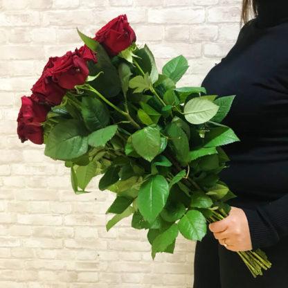 Букет из красных роз Наоми 25 шт Воронеж 3