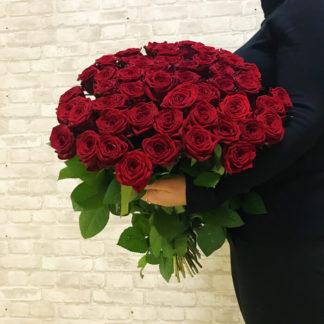 Букет из красных роз Наоми 51 шт Воронеж