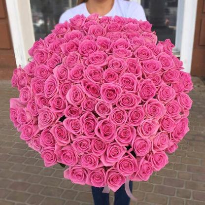 Букет розовых роз Аква 101 шт Воронеж 2