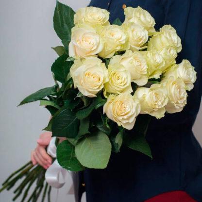 Букет белых роз Мондиаль 15 шт Воронеж 2