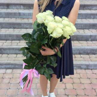 Букет белых роз Мондиаль 15 шт Воронеж