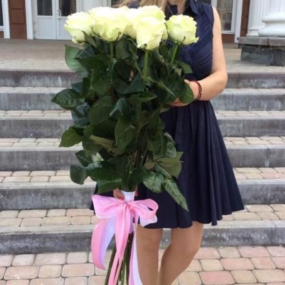 Букет белых роз Мондиаль 19 шт Воронеж 2