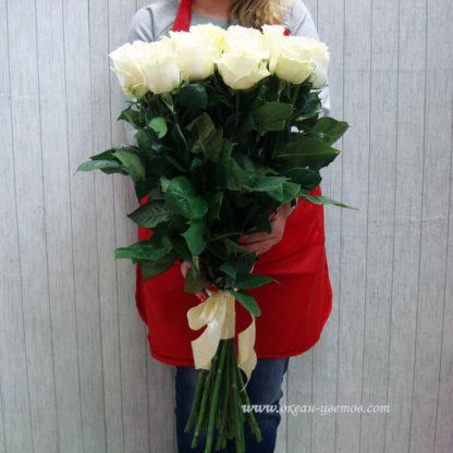 Букет белых роз Мондиаль 21 шт Воронеж 2