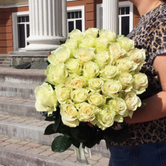Букет белых роз Мондиаль 25 шт Воронеж