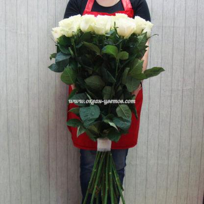 Букет белых роз Мондиаль 25 шт Воронеж 2