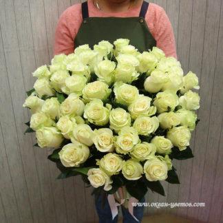 Букет белых роз Мондиаль 51 шт Воронеж