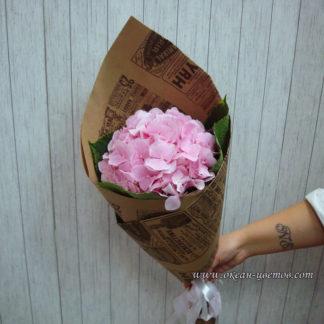 Букет из розовой гортензии Воронеж