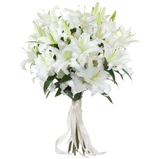 Букет из белых лилий (11 шт)