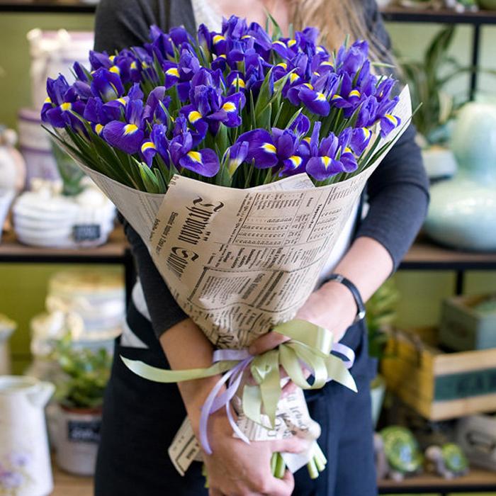 ирисы фото цветов букет цветом