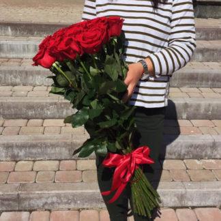 Букет из красных роз Фридом 25 шт Воронеж