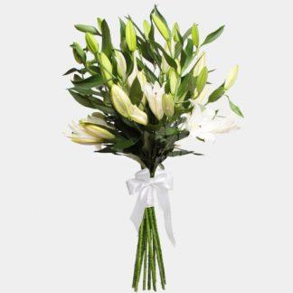 Букет из белых лилий (9 шт)