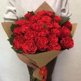 Букет алых роз Эль Торро Воронеж
