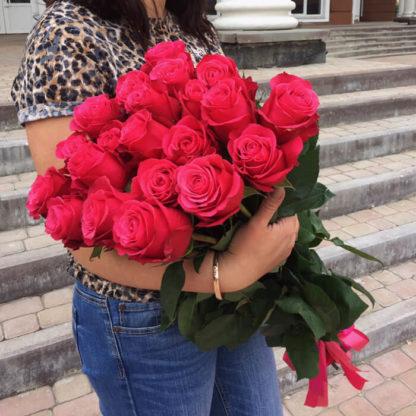 Букет розовых роз Черри 15 шт Воронеж 2