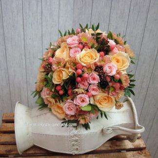 """Букет невесты """"Персиковый жемчуг"""""""