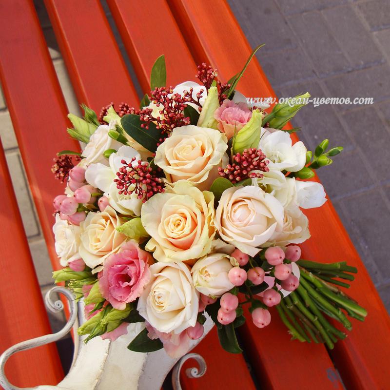 Розы, прайс свадебный букет воронеж недорого