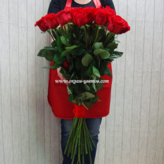 Букет из красных роз Фридом 19 шт Воронеж