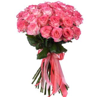 Розовая роза Джумилия 19 шт Воронеж 2