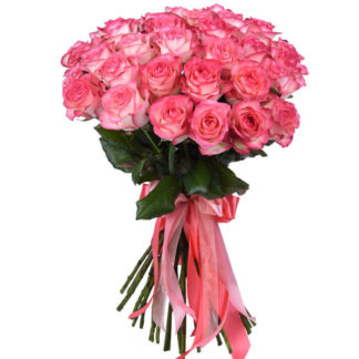 Розовая роза Джумилия 21 шт Воронеж 2
