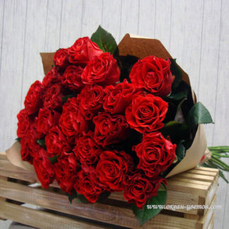 Букет алых роз Эль Торро 25 шт Воронеж