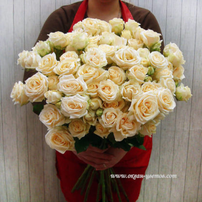 Букет из кремовых кустовых роз Воронеж