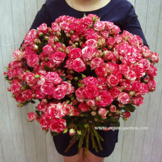 Букет из мраморных кустовых роз Воронеж