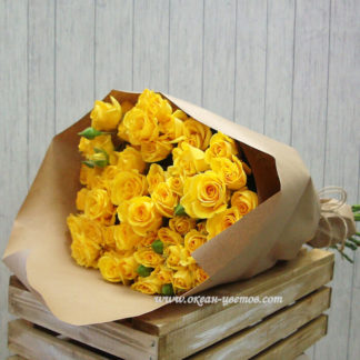 Букет из желтых кустовых роз Воронеж