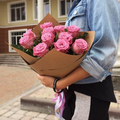 Букет фиолетовых роз Маритим 15 шт Воронеж 2