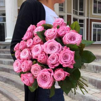 Букет сиреневых розовых роз Маритим 25 шт Воронеж