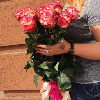 Букет розовых роз Палома 15 шт Воронеж