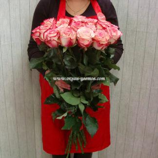 Букет розовых роз Палома 19 шт Воронеж