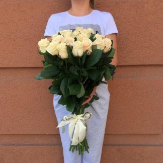 Букет кремовых роз Талея 15 шт Воронеж