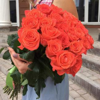 Букет из оранжевых роз Вау 15 шт Воронеж