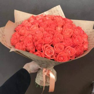 Букет из оранжевых роз Вау 35 шт Воронеж
