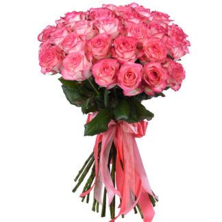 Букет из розовых роз Джумилия Воронеж