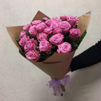 Букет сиреневых розовых роз Маритим 19 шт Воронеж