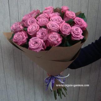 Букет сиреневых розовых роз Маритим 35 шт Воронеж