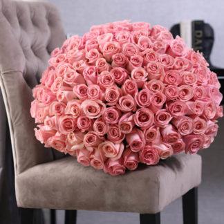 Букет розовых роз Пикубо 101 шт Воронеж