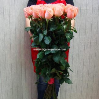 Букет розовых роз Пикубо 15 шт Воронеж