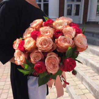 Букет из пионовидных роз Ред пиано Воронеж