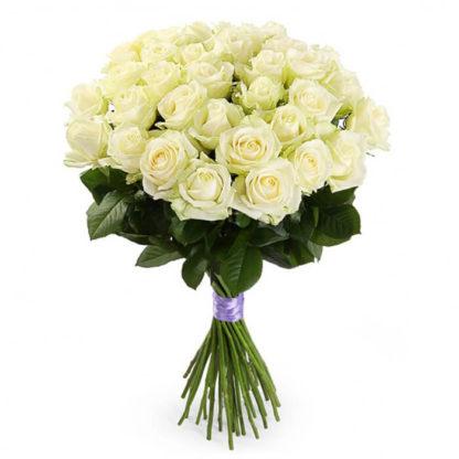 Букет белых роз Доломити 21 шт Воронеж 2