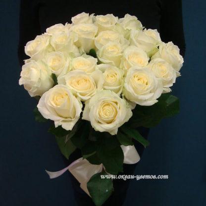 Букет белых роз Доломити 21 шт Воронеж