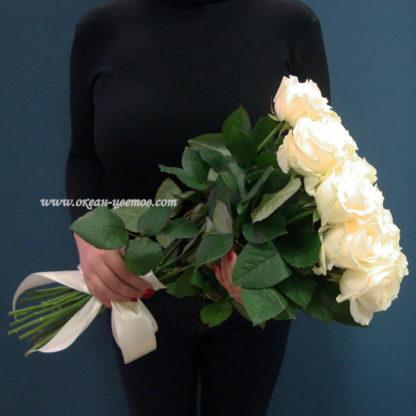 Букет белых роз Доломити 25 шт Воронеж 2